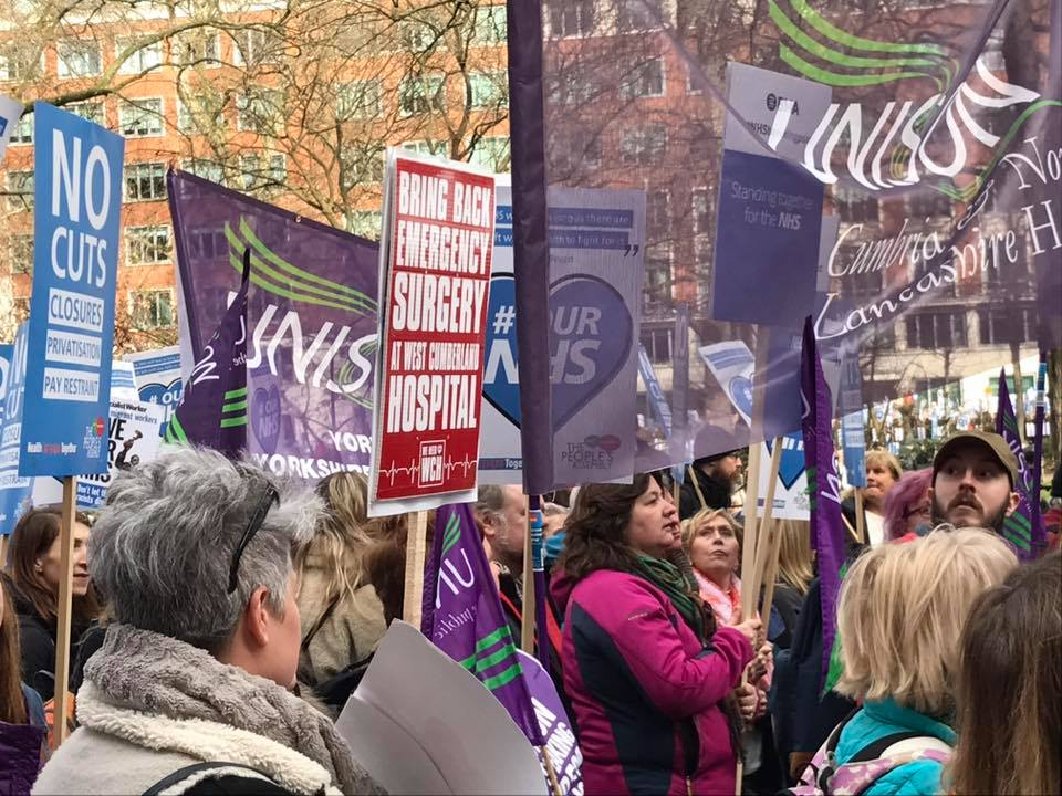 our NHS demo 4 March 2017 1
