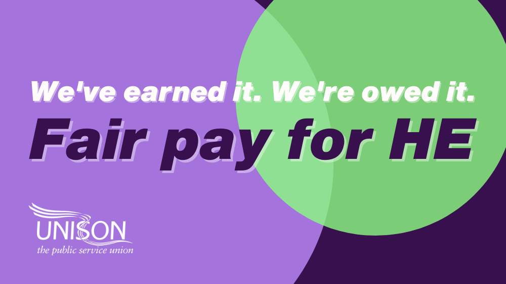 Fair pay for HE campaign image